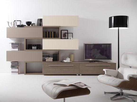 Soggiorno moderno a parete.   Mobili soggiorno ...