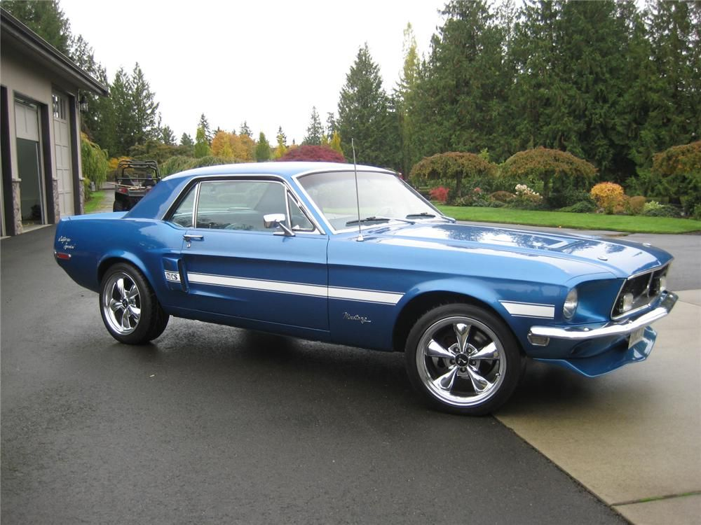 1968 ford mustang coupe front 3 4 154084 fords. Black Bedroom Furniture Sets. Home Design Ideas
