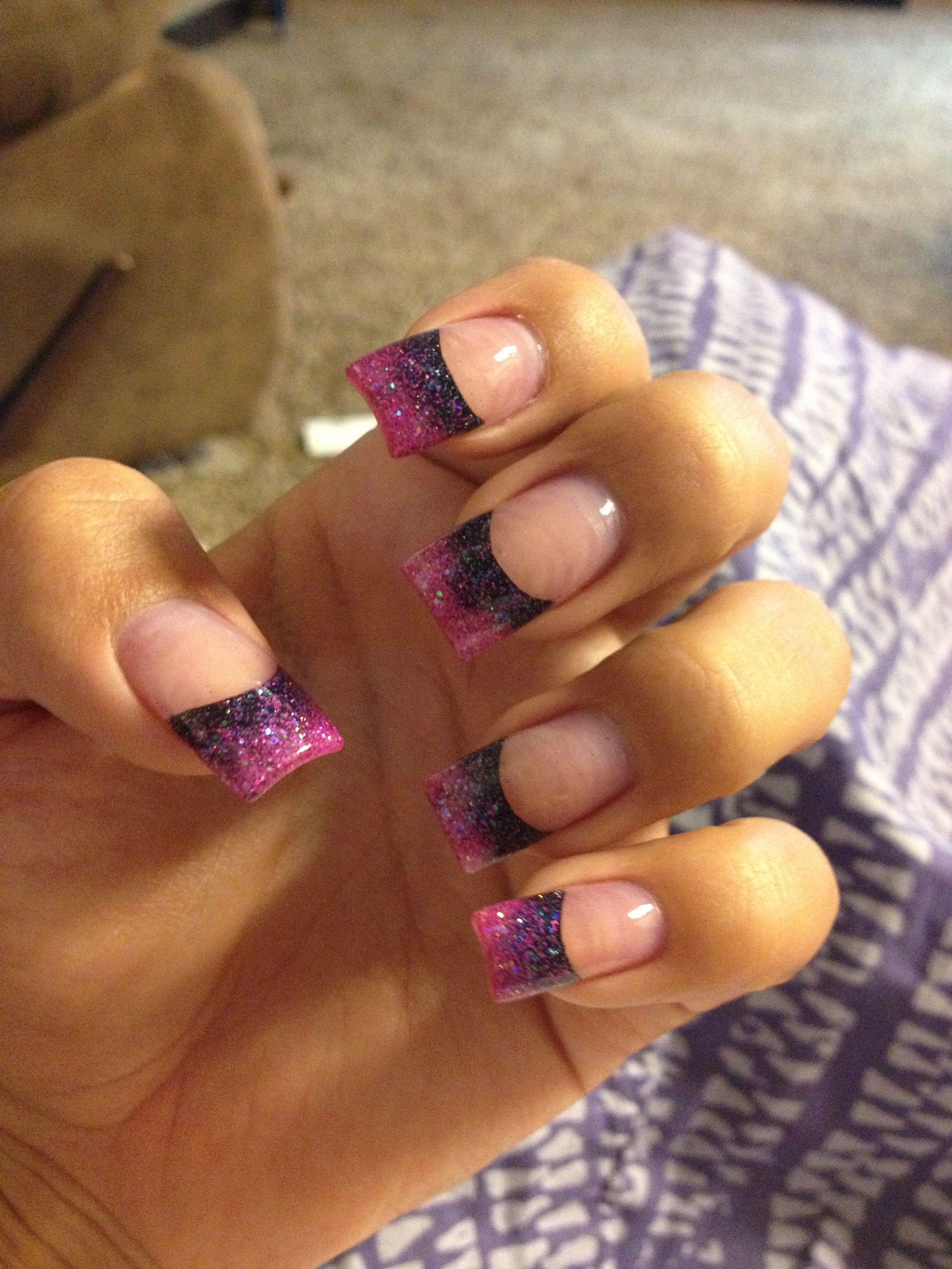 Pin By Trini Bates On Nails Black Acrylic Nails Manicure Nail Designs