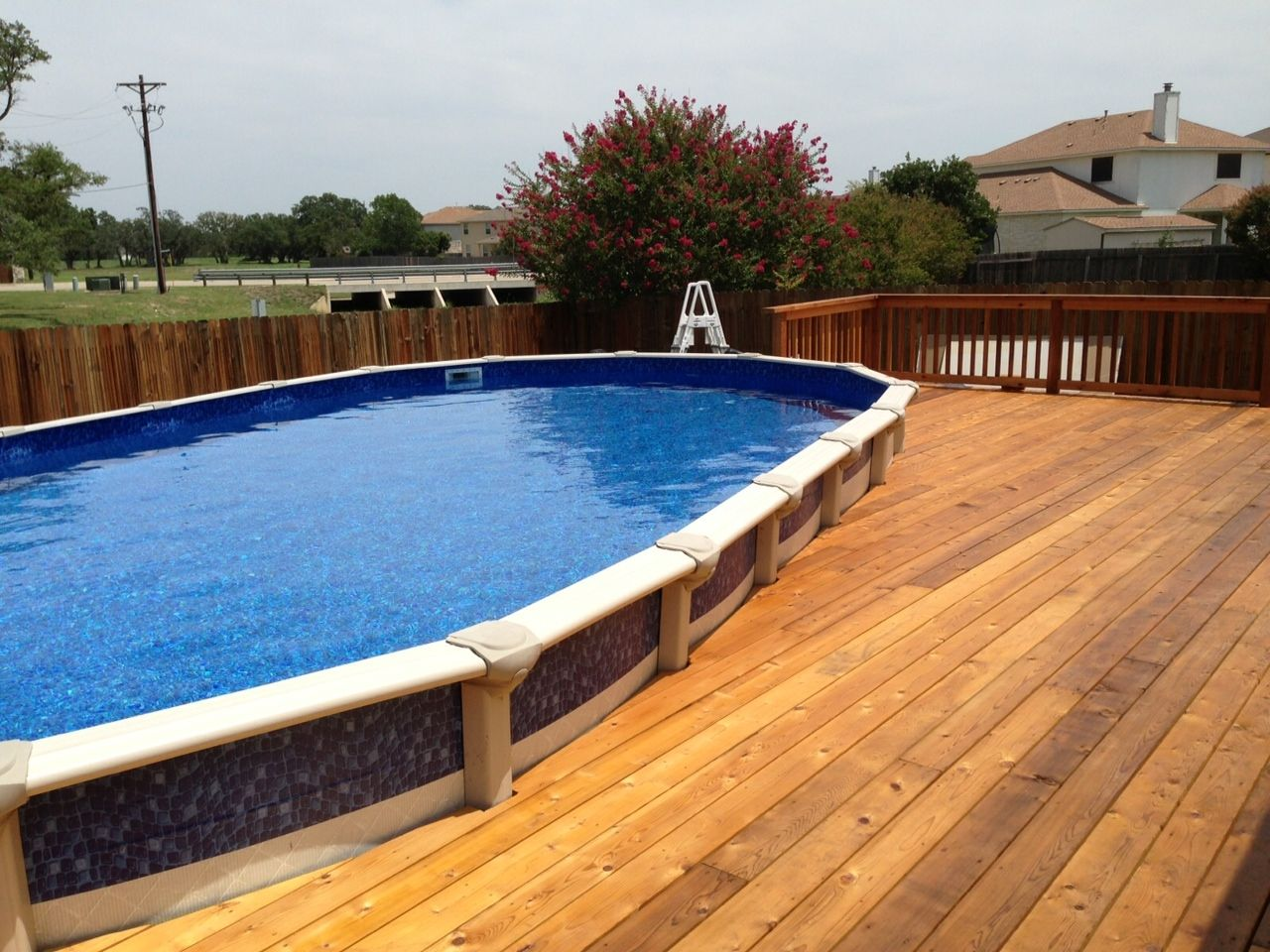 Pool Deck Combo Above Ground Pool In Ground Pools Best Above Ground Pool