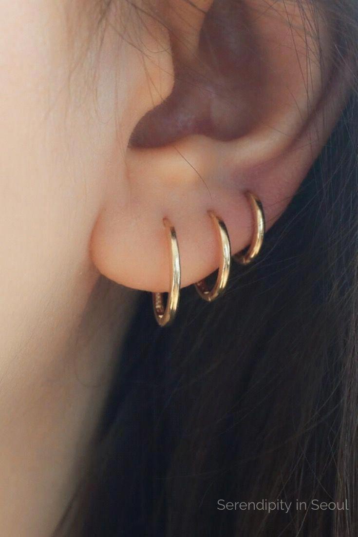 Mia Diamonds 14k Yellow Gold Non-Pierced Hoops Earrings