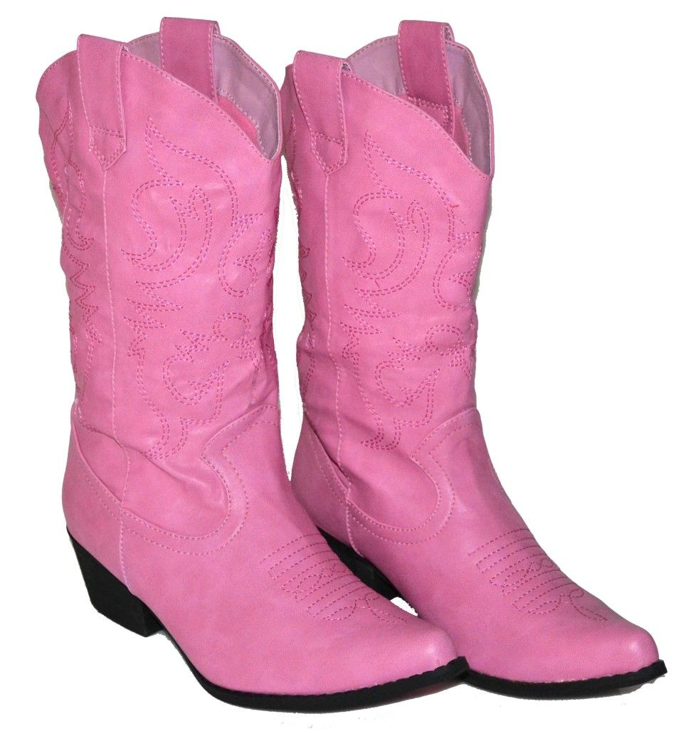 Womens COWGIRL Boots COWBOY Black, Light Brown, Dark Brown, Red ...