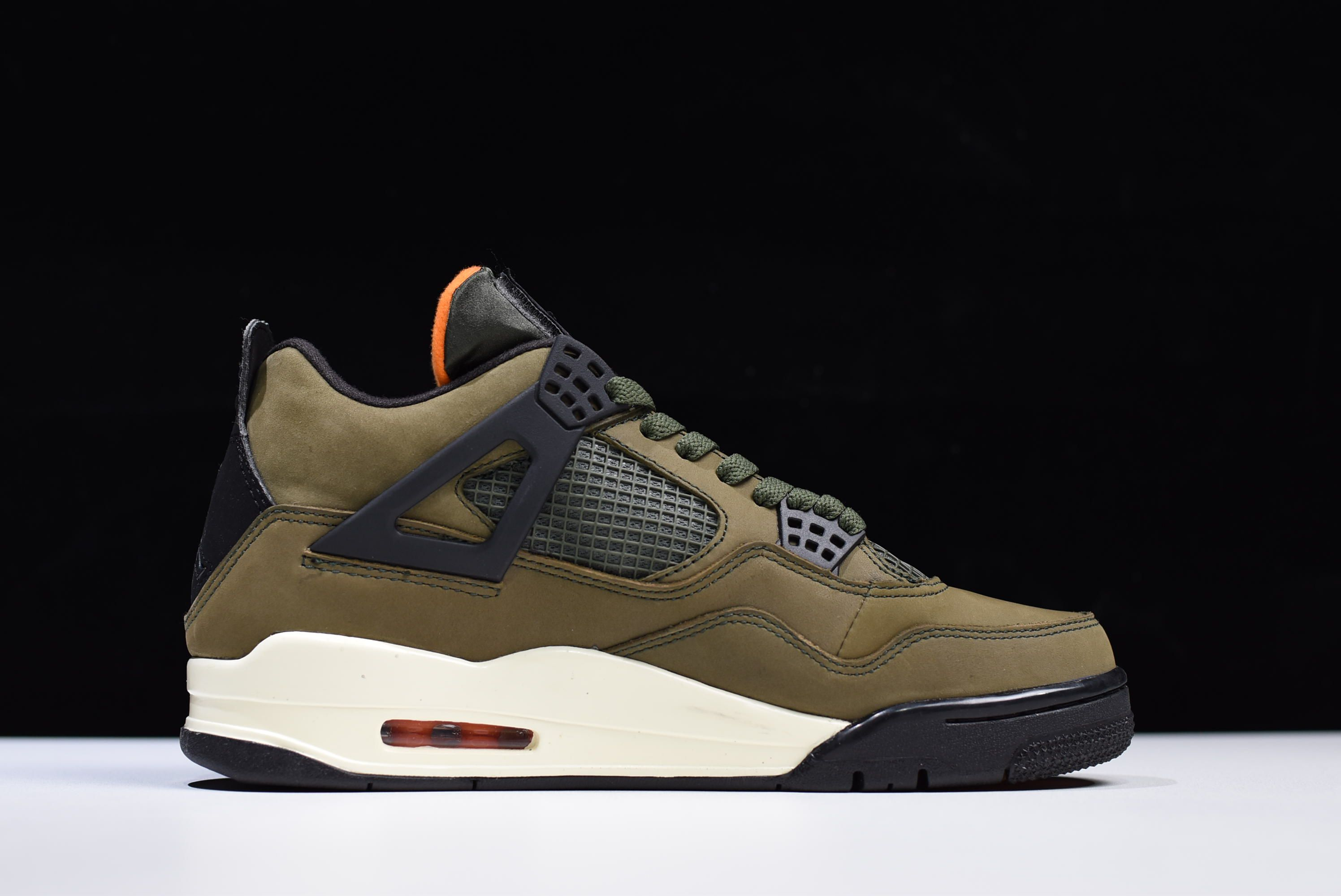 "Air Jordan 4 Retro ""Undefeated"" Olive Green Black-Orange for sale 79700018b"