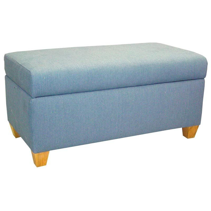 Denim Blue Upholstered Storage Bench Upholstered Storage Bench Storage Bench Upholstered Storage