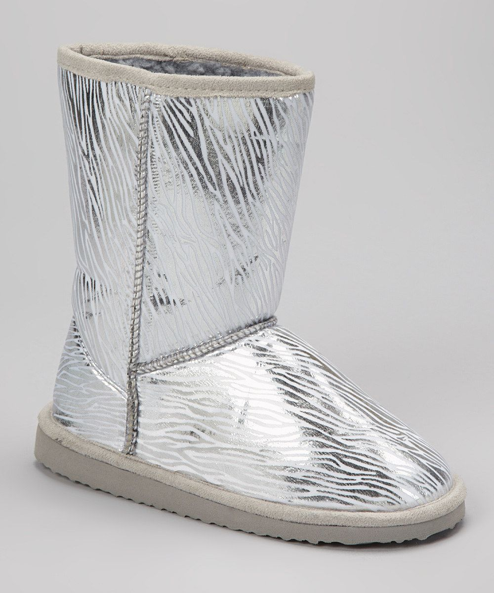Take a look at this Silver Zebra Betty Boot I bought at zulily today!