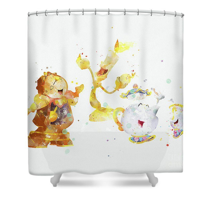 Disney Beautyandthebeast Nursery Lumiere Shower Curtain Bathroom Curtains