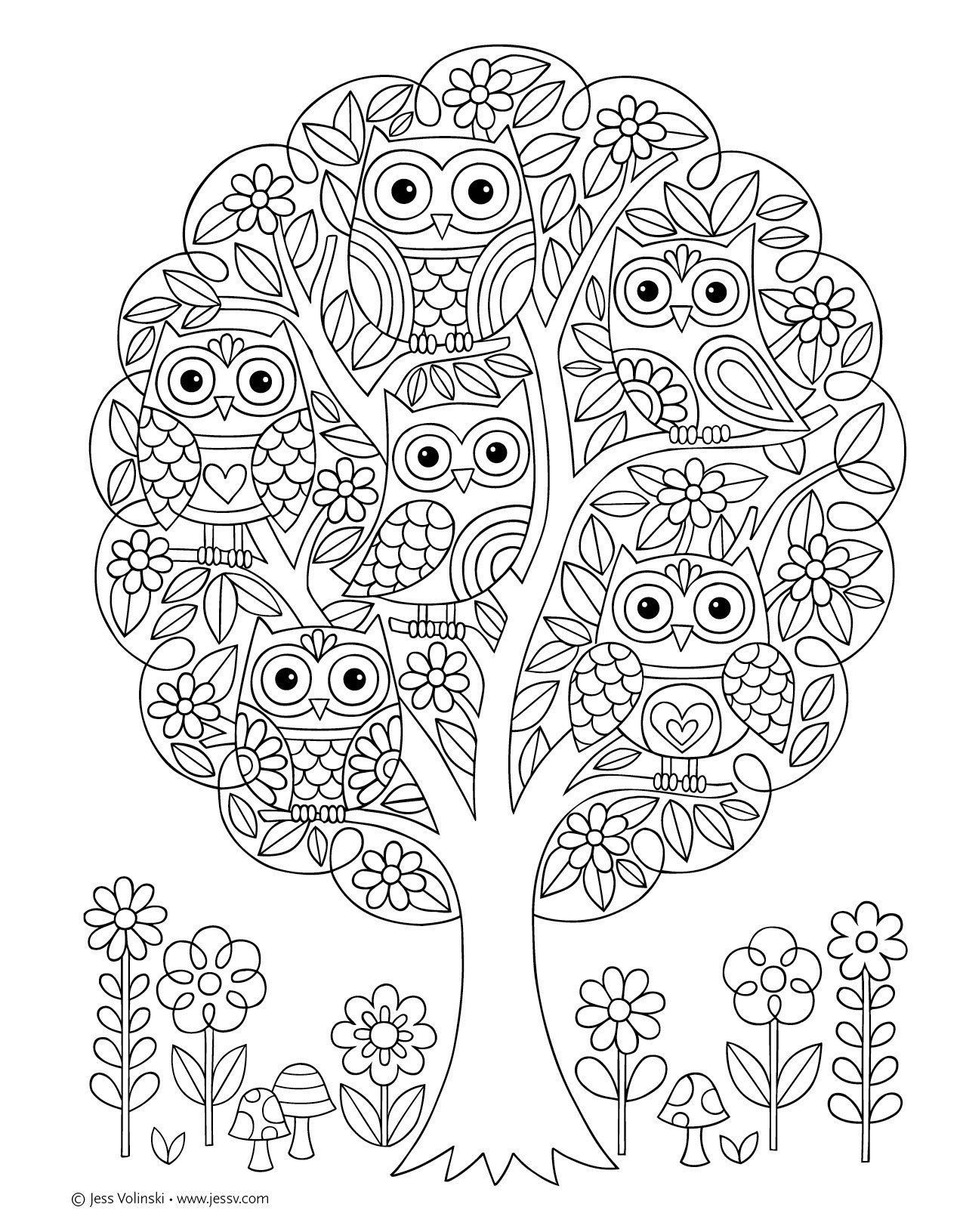 Super Cute Coloring Pages Notebook Doodles Super Cute Coloring Activity Book Jess Owl Coloring Pages Animal Coloring Pages Cute Coloring Pages