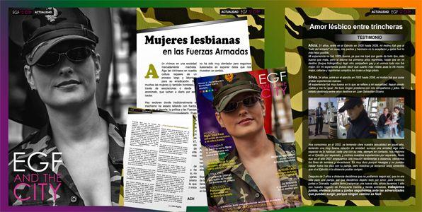 Mujeres lesbianas en las fuerzas armadas - Revista EGF and the City