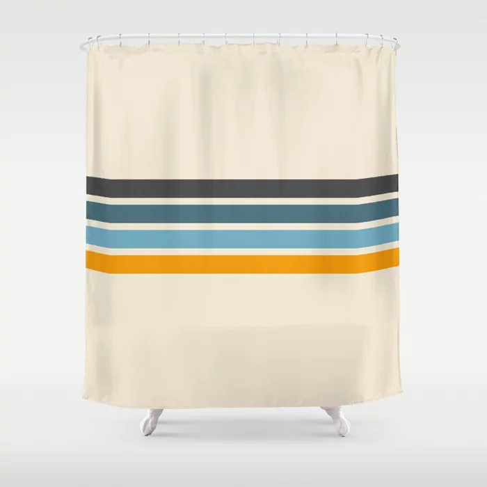 Buy Vintage Retro Stripes Shower Curtain By Alphaomega Worldwide