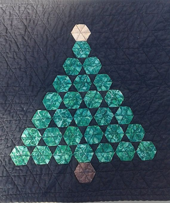 Quilt Hexagon English Paper Piecing Christmas Tree Wall Hanging