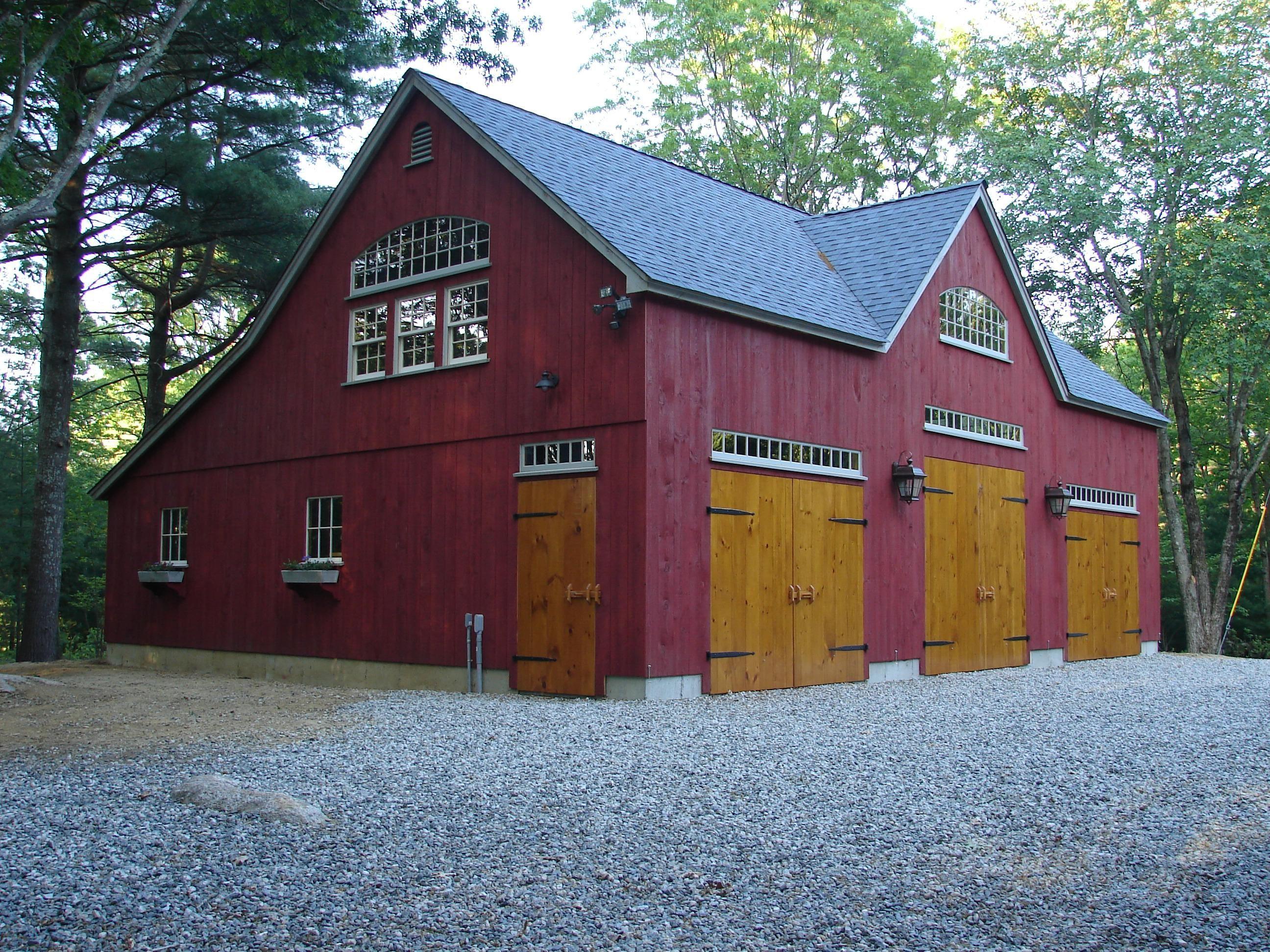Vintage timber frame barn addition farmhouse exterior burlington - Our 22 X 42 1 1 2 Story Barn With 12