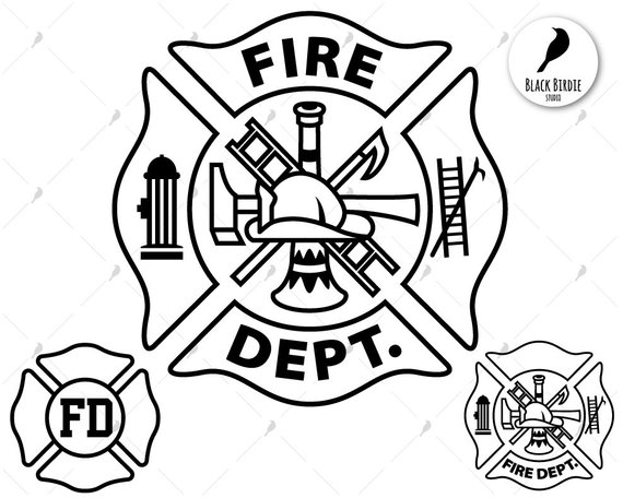 Fire Dept Svg Firefighter Svg Fire Department Svg Fd Svg