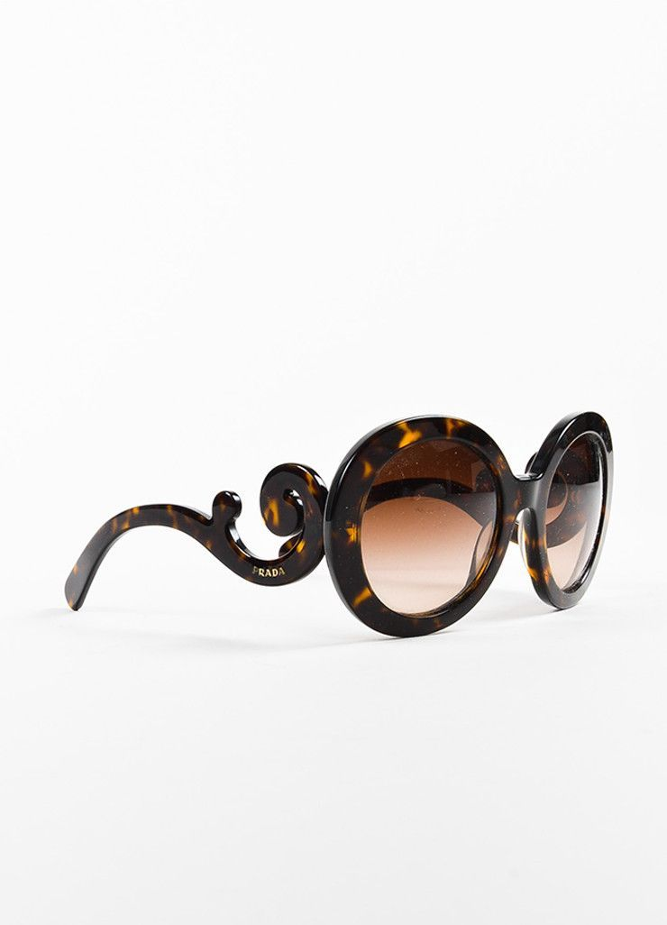 dab0921c5191 Brown   Yellow Prada Tortoise Shell  SPR 27N  Round