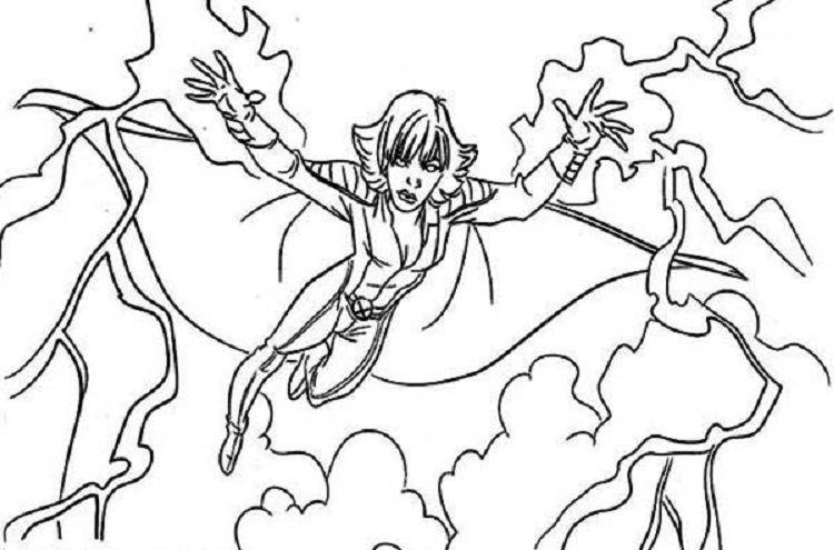 Storm Superhero Coloring Pages Superhero Coloring Superhero Coloring Pages Storm Superhero