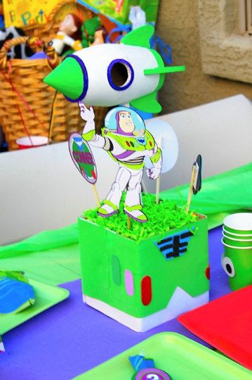 buzz lightyear party centerpiece holder by poppiesandpumpkins toy rh pinterest com