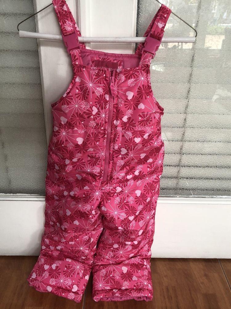 4b2a3dbeb14b London Fog Girls Snow Ski Bib Overalls Pink Pant Suit Winter Size 4T ...