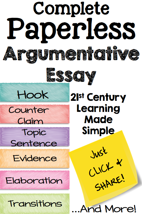 argument writing middle school google classroom thesis statement  teach argumentative essay writing  opinion writing on a whole new level  for the digital classroom students can type directly on the tutorial  slides that