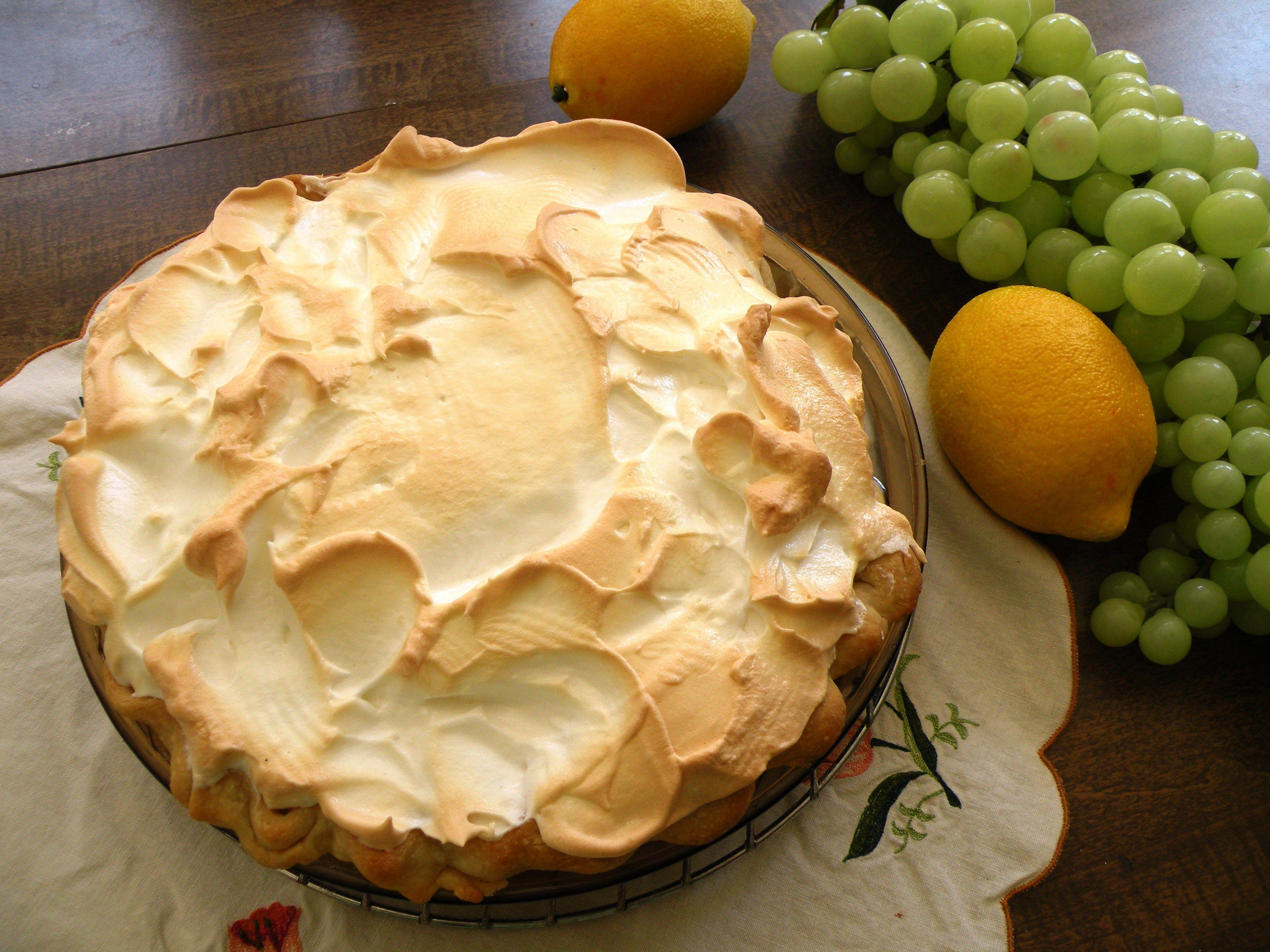 Lemon Meringue Pie secrets use a 7 inch pie plate and when preparing meringue be sure & Lemon Meringue Pie secrets use a 7 inch pie plate and when preparing ...