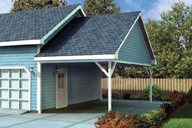 Traditional Style 1 Car Garage Plan Number 6023 #garageplans