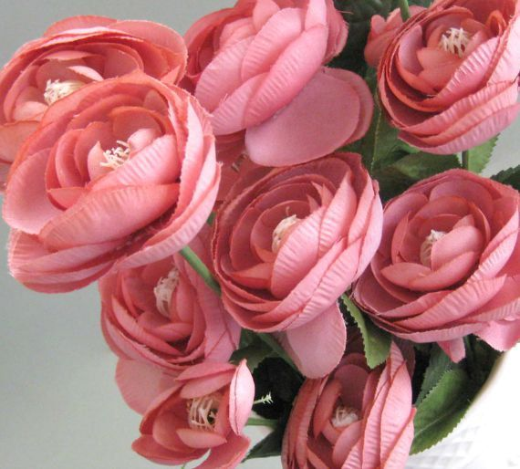 Pink ranunculus artificial silk flower decor craft supplies floral pink ranunculus artificial silk flower decor craft supplies floral supplies wedding flower pink flower artificial flower mightylinksfo