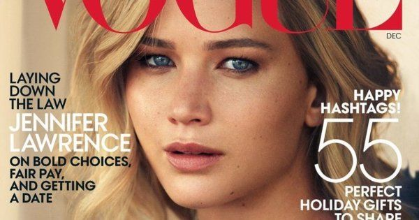Jennifer Lawrence on the cover of Vogue ~ Huffington Post
