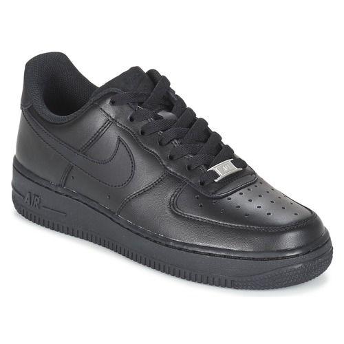Χαμηλά+Sneakers+Nike+AIR+FORCE+1+'07+W+Black+103.00+€