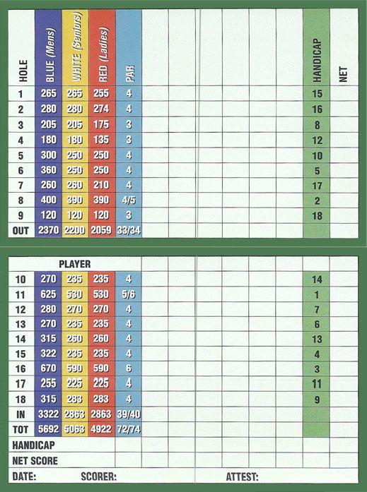 19++ Blue golf scorecard ideas