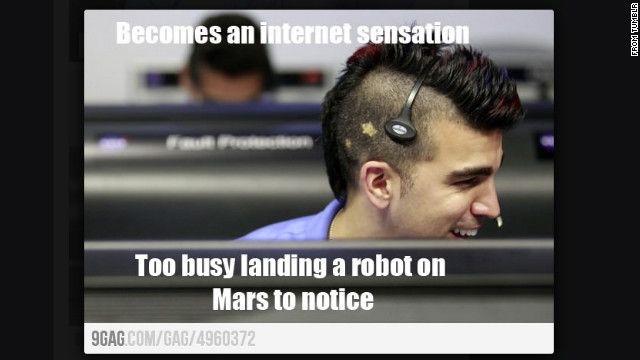Funny Hot Guy Meme : Meet 'mohawk guy ' star of the mars landing hair meme meme and memes