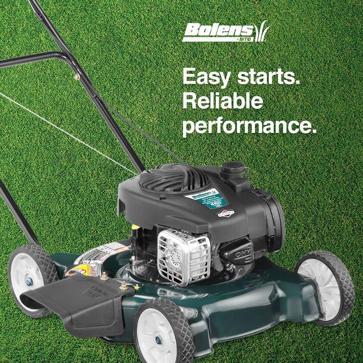Shop Bolens 125cc 20 In Push Residential Gas Lawn Mower With At Lowes Com Push Lawn Mower Lawn Mower Gas Lawn Mower
