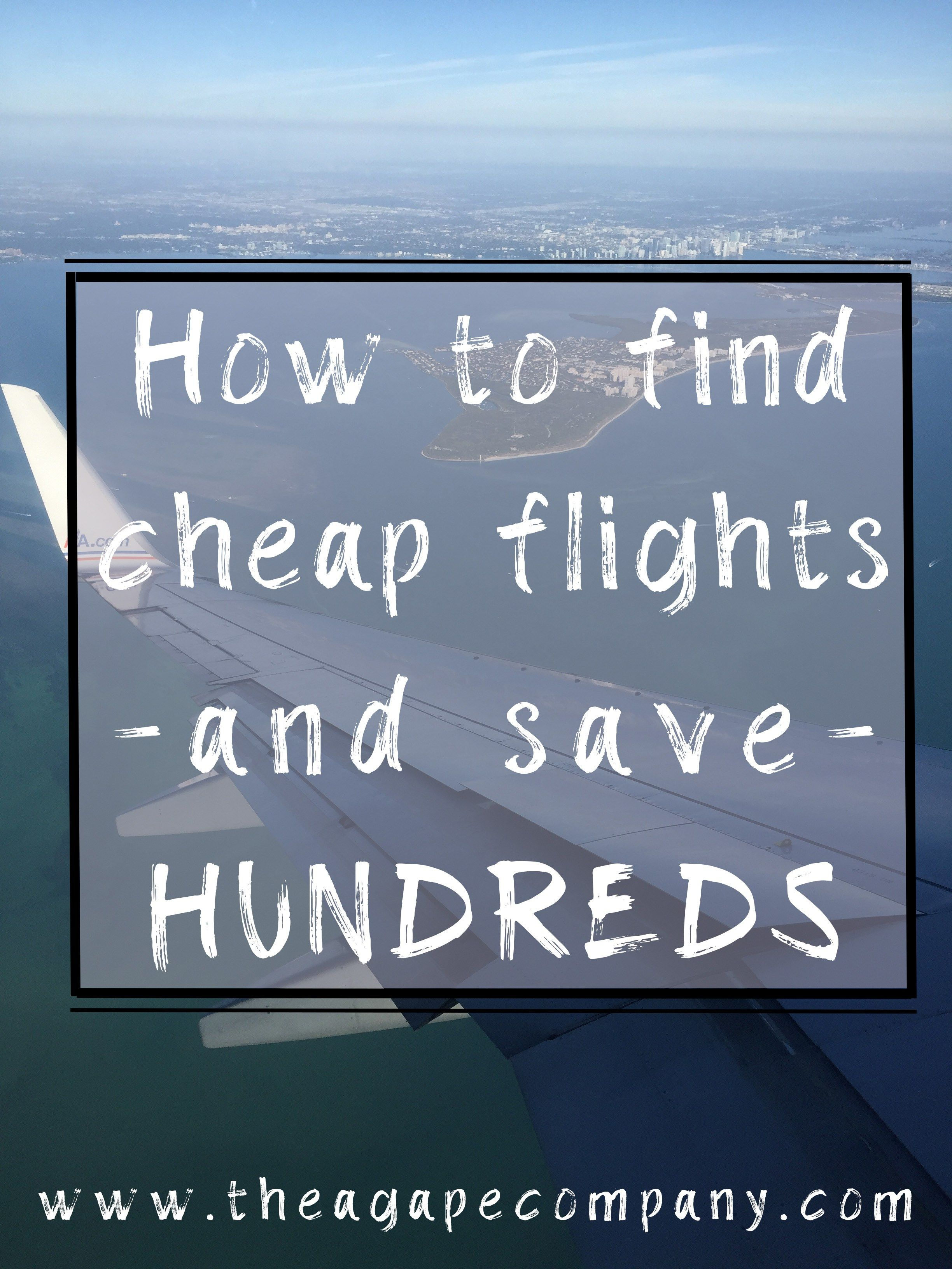 Looking to find cheap flights to save you thousands? Check out or travel guides full of tips and tricks to find you cheap airfare deals. These budget travel tips have helped us save money, explore the world, and find cheap flights anywhere! www.theagapecompany.com #cheapflights #airfaredeals