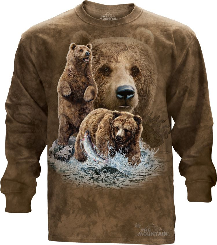 Find 10 Brown Bears Bear T Shirt Adult Unisex The Mountain