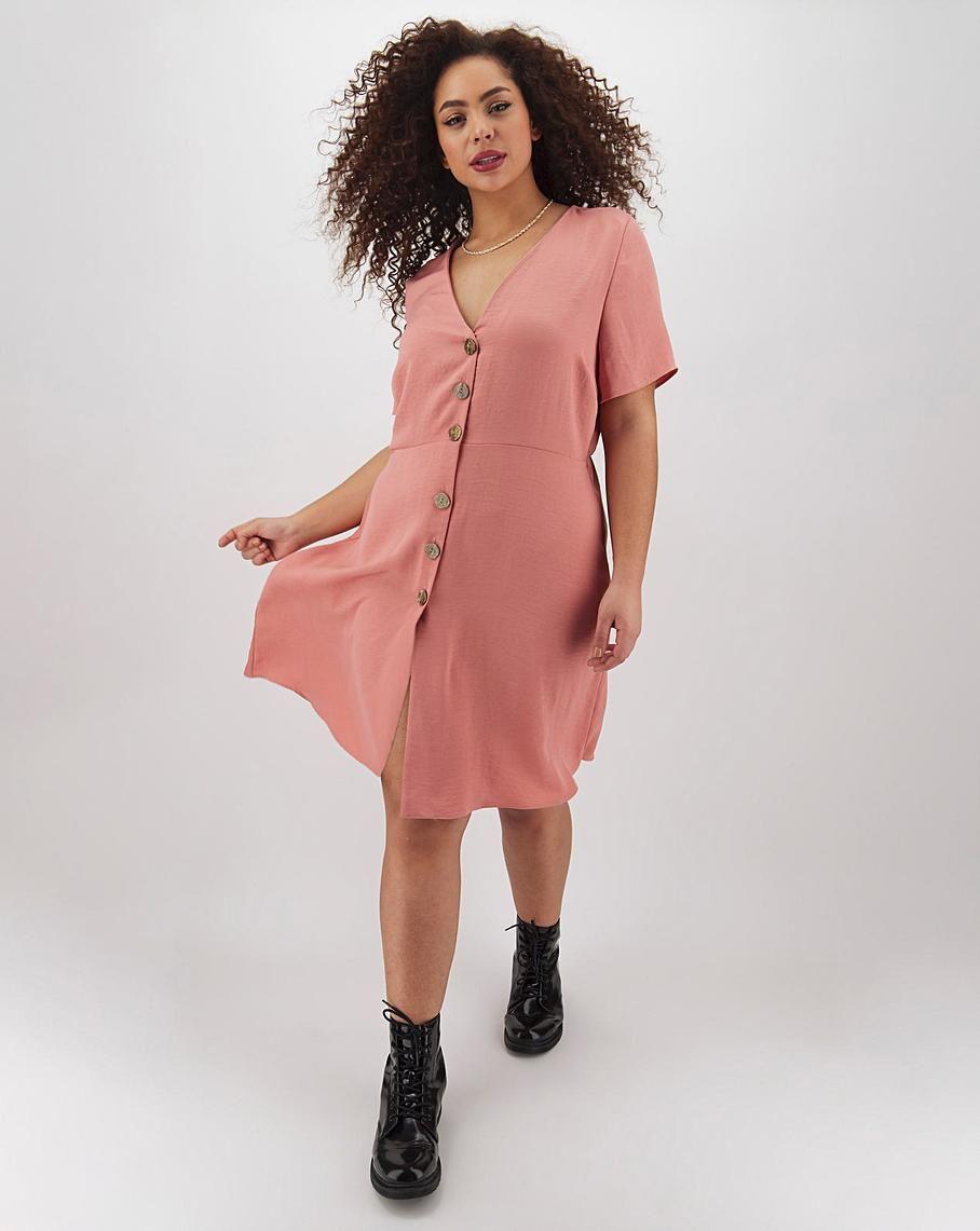 Colour in 2020 dusky pink dress dresses skater dress