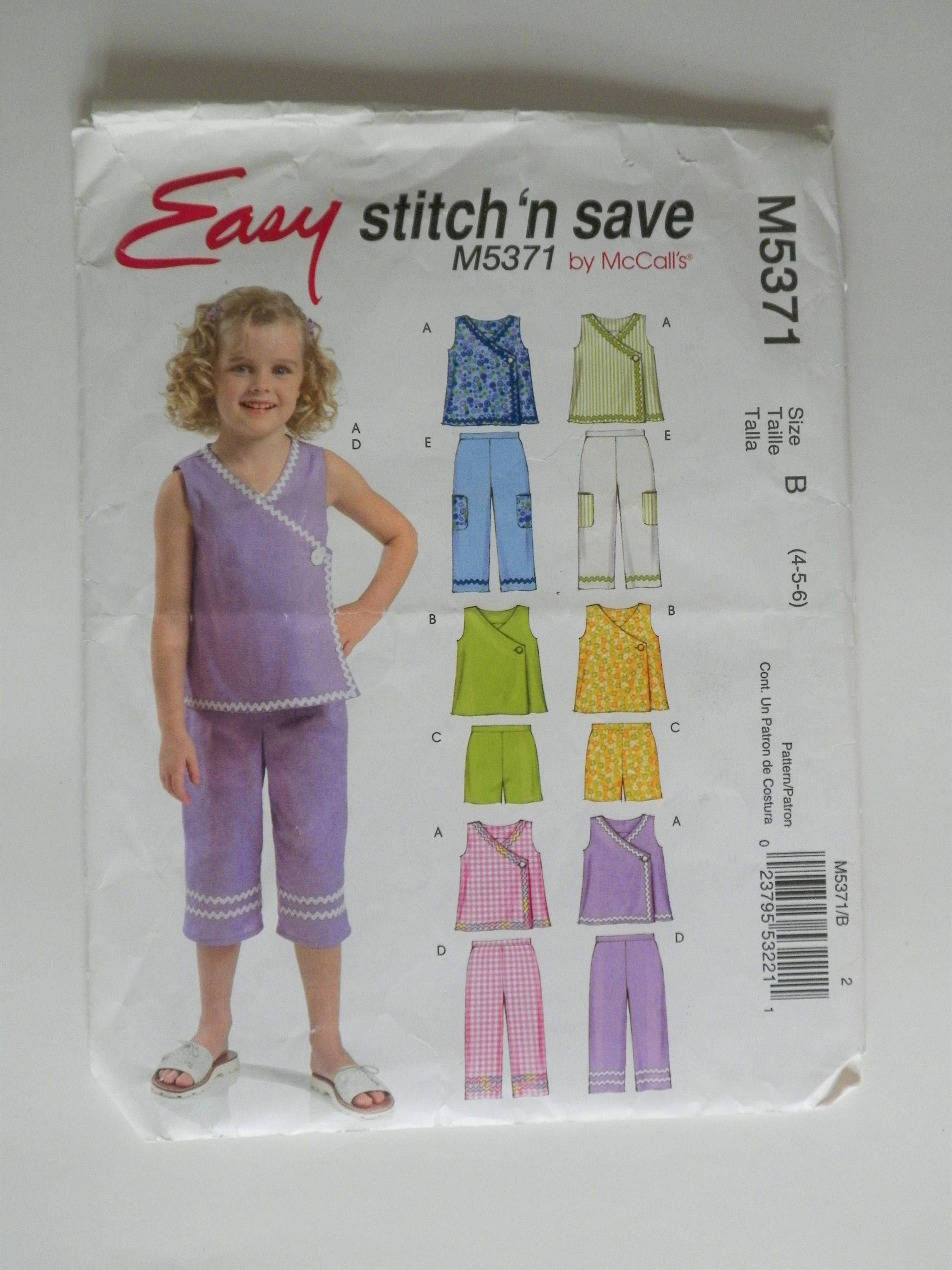 20% SALE Girls\' Toddler Child\'s Sewing Pattern Cute And EASY Tops ...