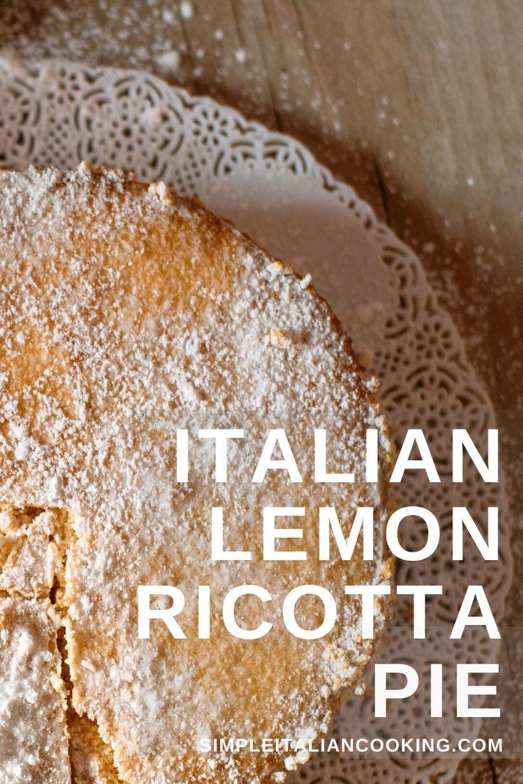 Photo of Italian Lemon Ricotta Pie