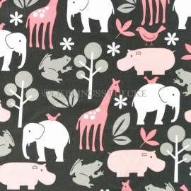 M.Miller Zoology Bloom Pink, Webstoff,  18,90 EUR / Meter - Bild vergrößern