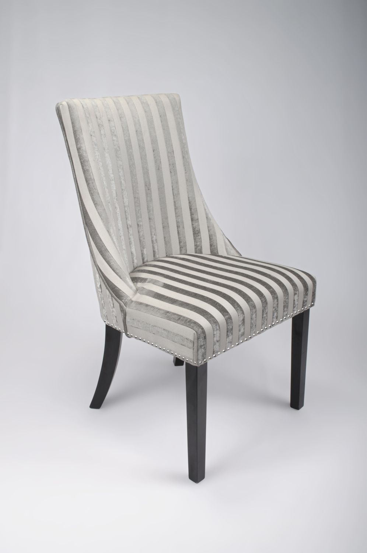Balmoral Mink Velvet Stripe Fabric Dining Chair Slipcovers For Chairs Striped Dining Chairs Fabric Dining Chairs