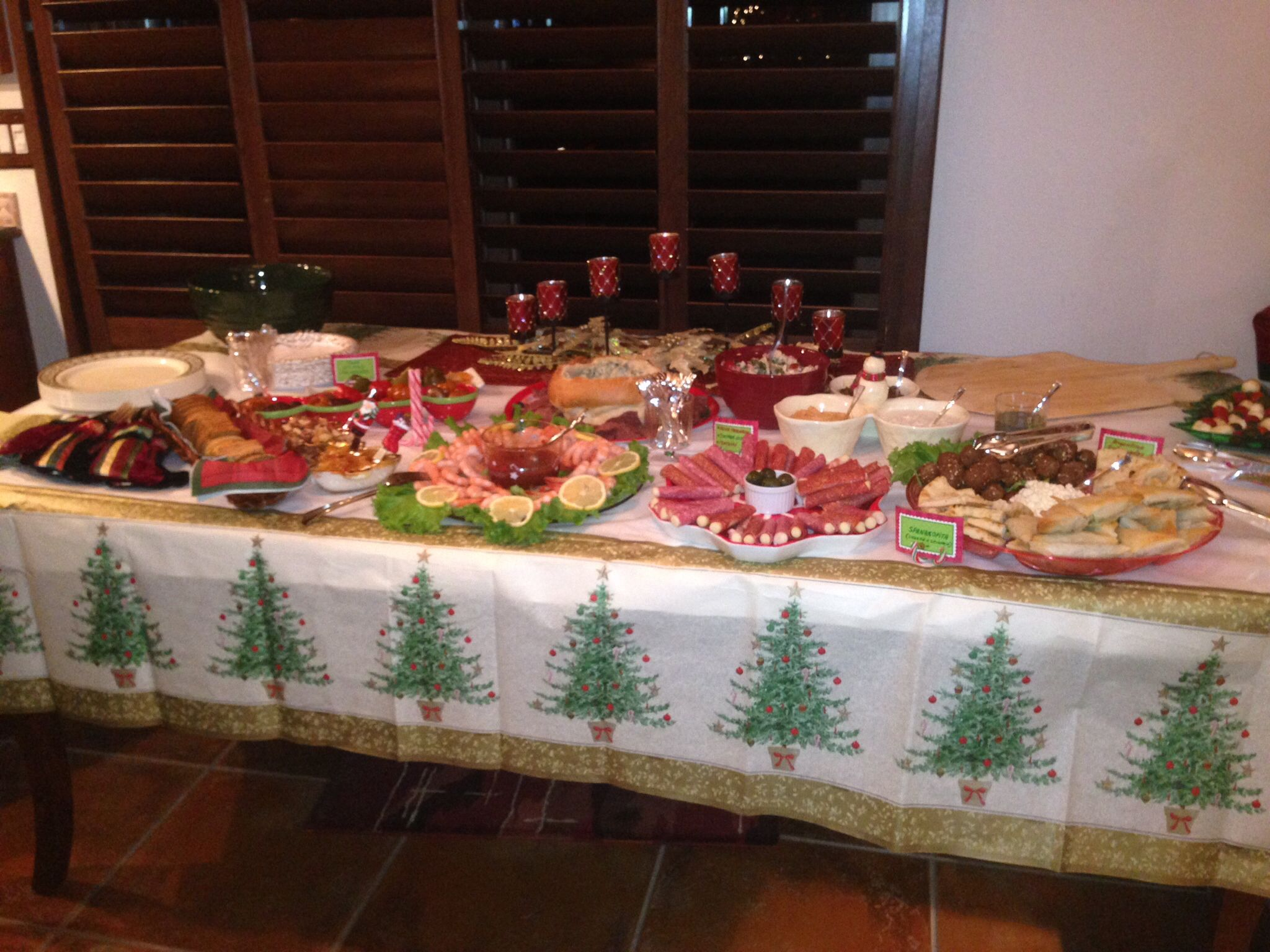Christmas Party Buffet Table Easter To Christmas Decor And More
