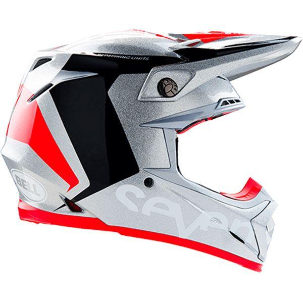 Bell 2017 Seven Moto 9 Flex Rogue Silver Black Helmet Helmet Dirt Bike Helmets Black Helmet
