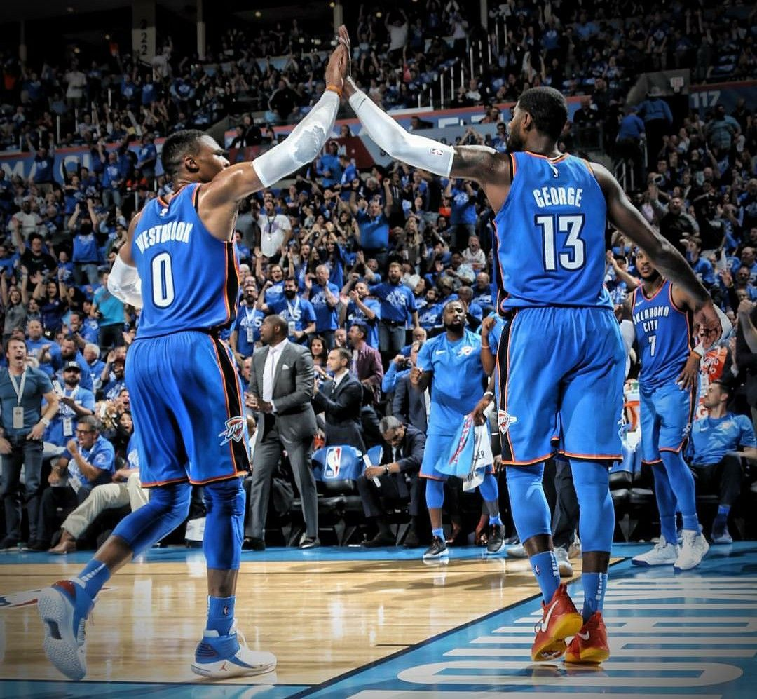 Westbrook and Paul George OKC THUNDER