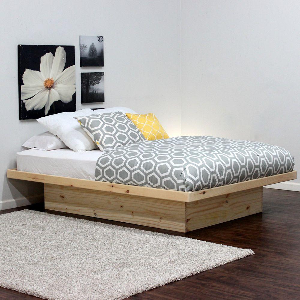 Queen Platform Bed In Pine Hochbett Gotische Mobel Bett Aus