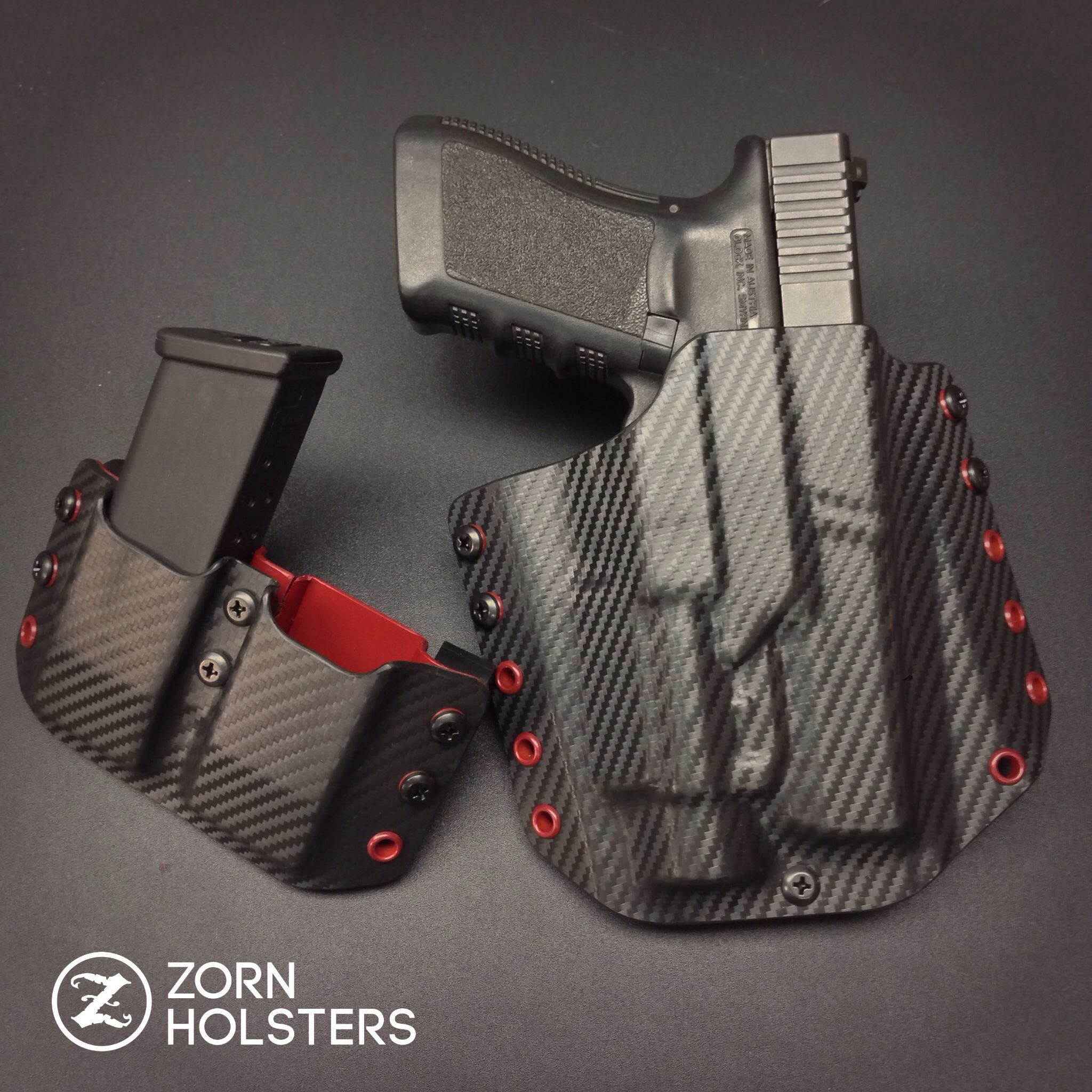 Double Magazine And Handcuff Holder Glock 41 Trojan with a Streamlight TLR 41 and double magazine pouch 14