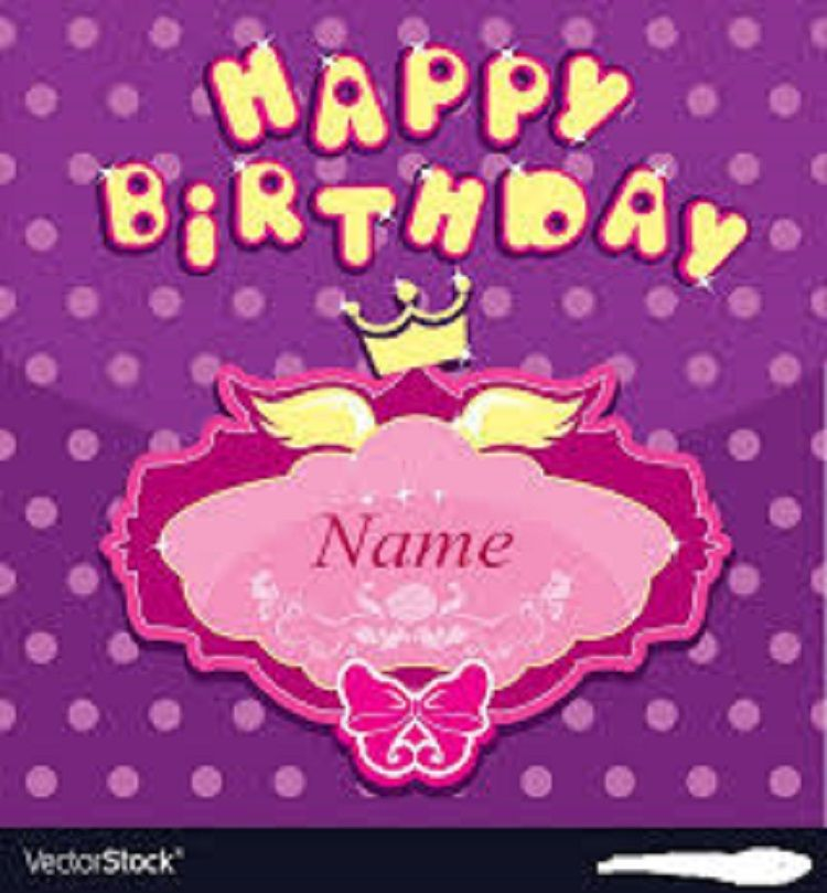 Happy Birthday Invitation Card With Name Creator