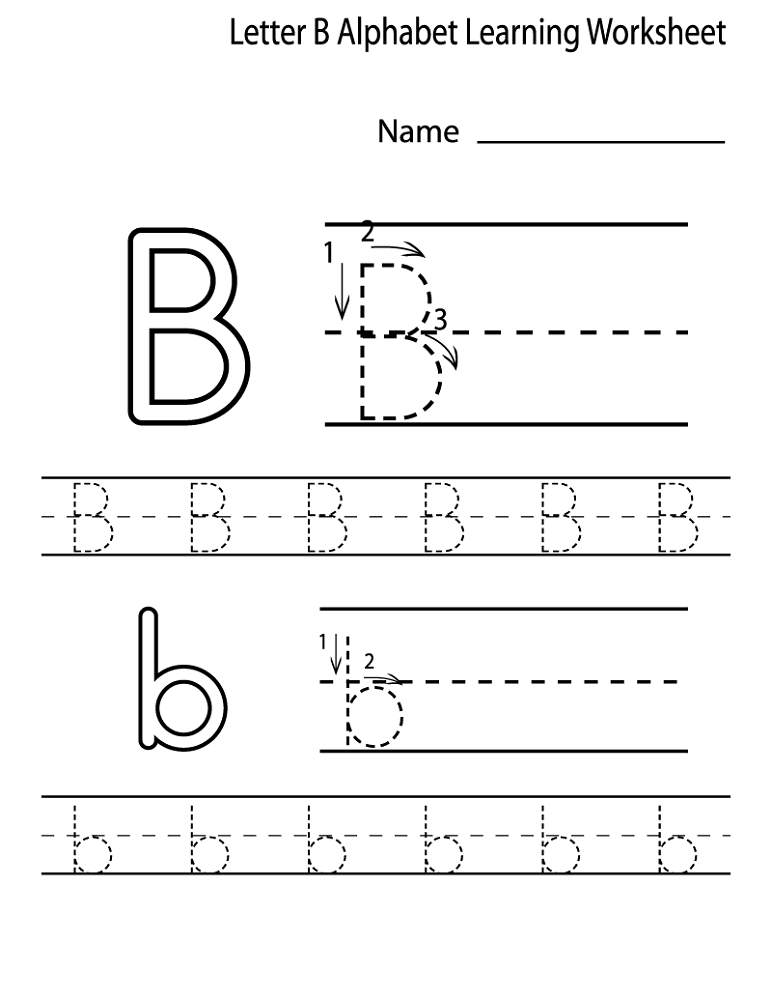 alphabet worksheets for preschoolers letter B | Alphabet and Numbers ...