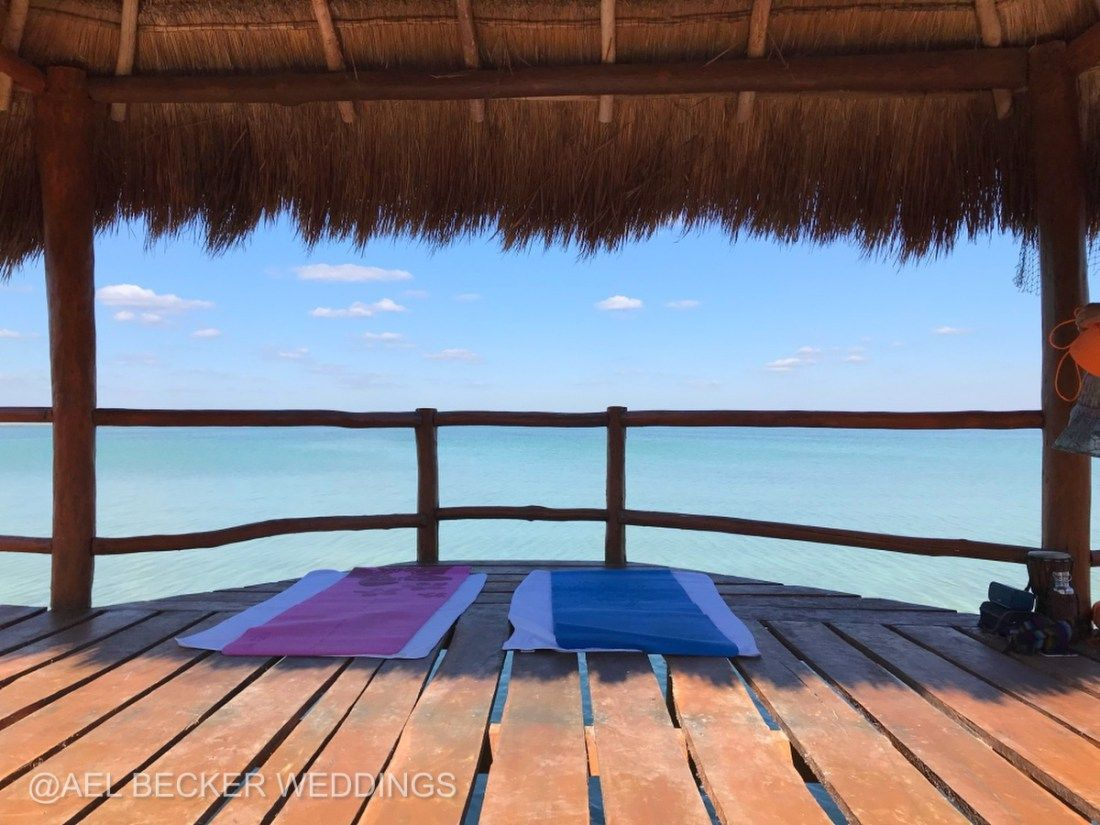 Private Yoga Cles On Sian Kaan Lagoon At Mukan Resort Mexico Ael Becker Weddings