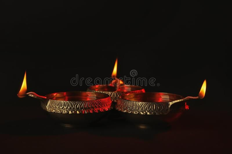 Diwali Diyas Or Clay Lamps On Dark Background Affiliate Clay Diyas Diwali Background Dark Ad Diwali Stock Images Wedding Vector