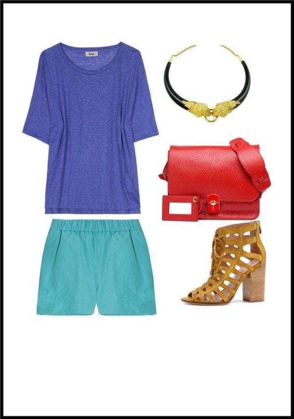 """Balenciaga Shoulder Rouge"" by arlethmajerowicz on Polyvore"