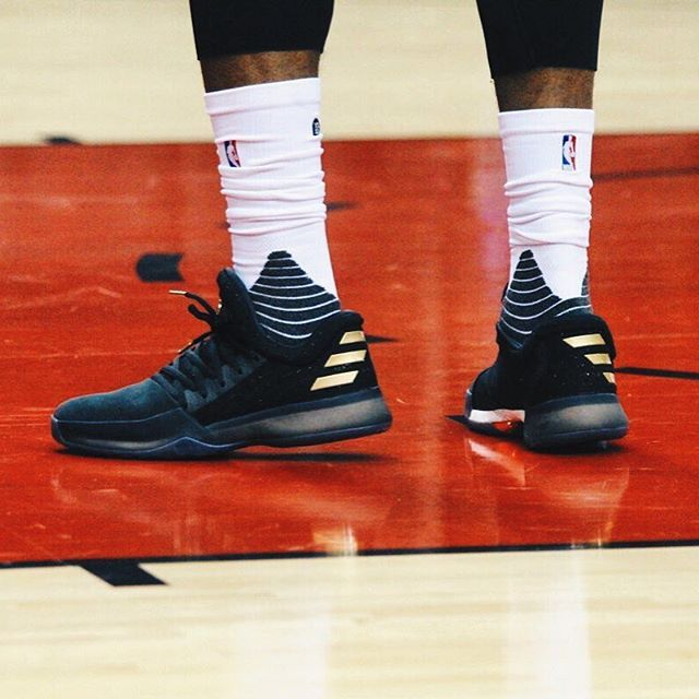 #KicksOnCourt // James Harden spotted in the adidas Harden Vol 1