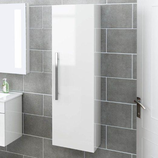 1200 Mm Tall White Bathroom Furniture Wall Hung Modern Cupboard Cabinet Storage Unit Mf82 Wall Mounted Bathroom Cabinets Modern Bathroom Design Modern Cupboard