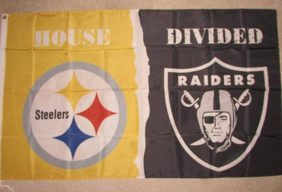 Steelers vs Raiders House Divided Flag in 2020 House