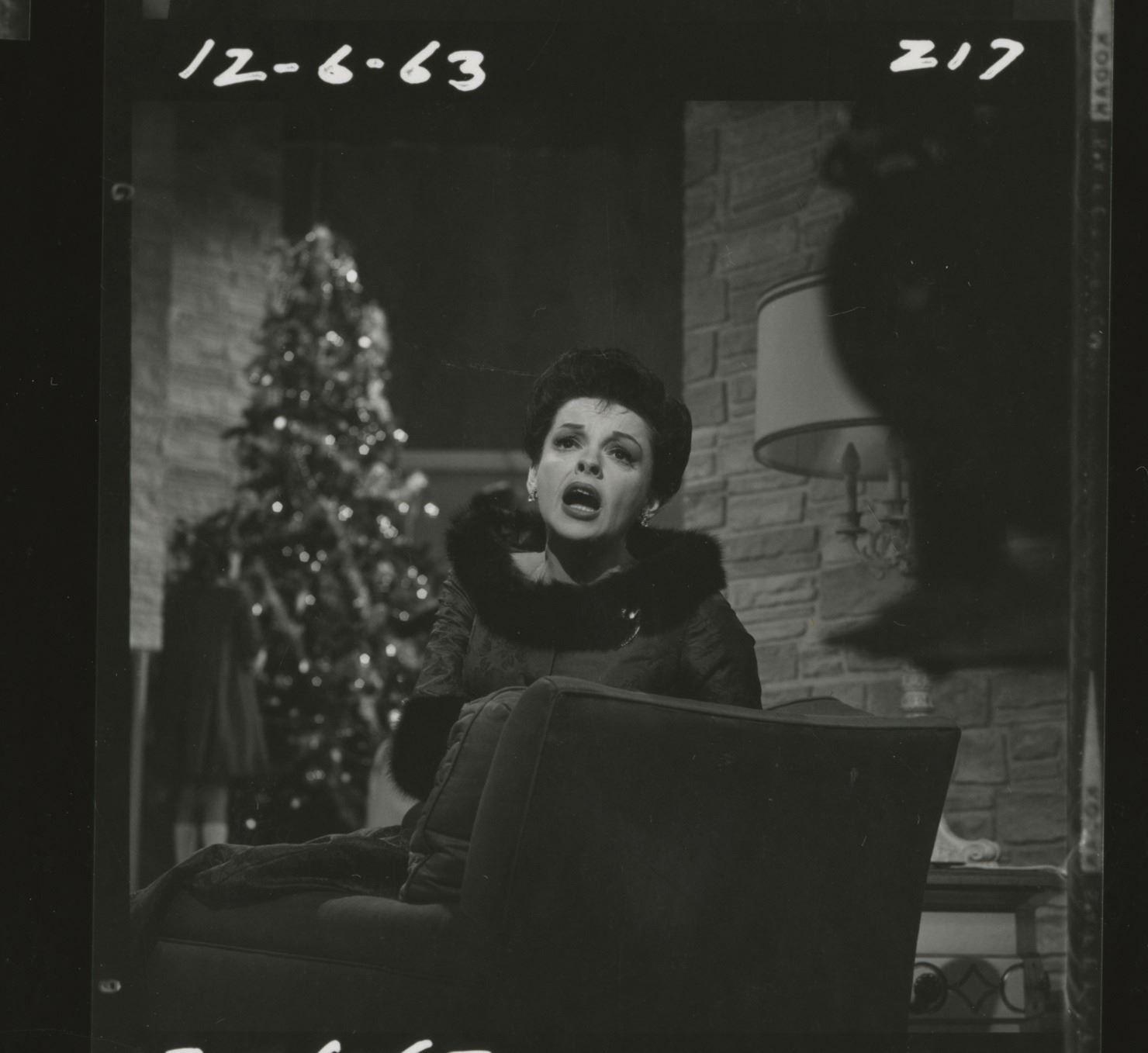 The Judy Garland Show contact sheet for her 1963 Christmas special ...